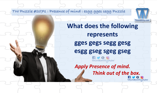 Puzzle 2071 thinkwitty.com - esgg gges segg Puzzle Riddle