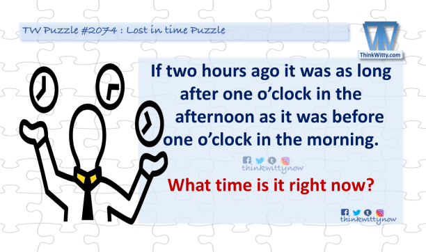 Puzzle 2074 thinkwitty.com - Lost in TIme Puzzle Riddle