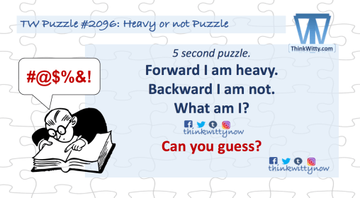 Puzzle 2096 thinkwitty.com - Heavy or not Puzzle