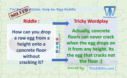 Puzzle Solution 2031 thinkwitty.com - Drop an Egg Riddle Answer