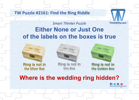 Puzzle 2161 thinkwitty.com - Find the Wedding Ring RIddle