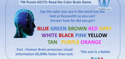 Brain Teasers - Think Witty