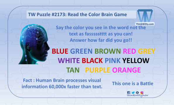 Brain Game 2173 thinkwitty.com - Read the Color Brain Game - Brian Teaser