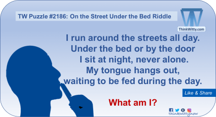 Puzzle 2186 thinkwitty.com - On the Street Under the Bed Riddle - Presence of mind