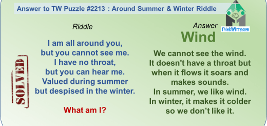 Answer to the Throw me Away Riddle - Think Witty