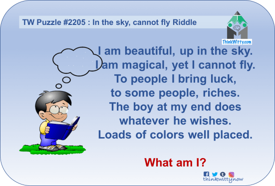 Puzzle 2205 thinkwitty.com - In the sky cannot fly Riddle - Presence of mind