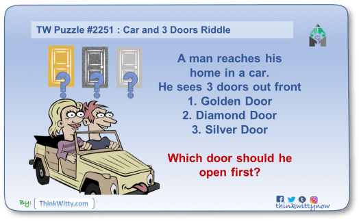 Puzzle 2251 thinkwitty.com - Car and 3 Doors Riddle - Presence of mind
