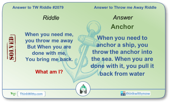 Answer to the Puzzle 2079 thinkwitty.com - Throw me Away Riddle