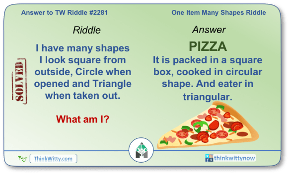 Answer to the Puzzle 2281 thinkwitty.com - One Item Many Shapes Riddle