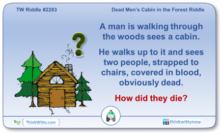 Puzzle 2283 thinkwitty.com - Dead Men's Cabin in the Forest Riddle