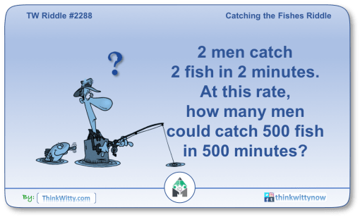 Puzzle 2288 thinkwitty.com - Catching the Fishes Riddle