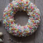Fabric Wreath Craft A Simple Spring Project Using Fabric Scraps