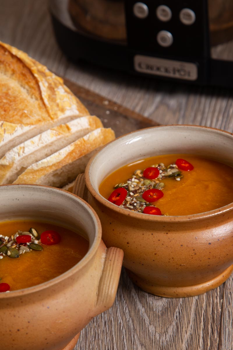 Slow Cooker Swede Soup with Seeds and Chilli