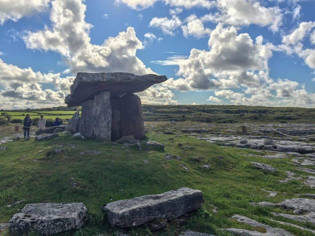 The Poulnabrone Dolmen in the Burren, County Clare