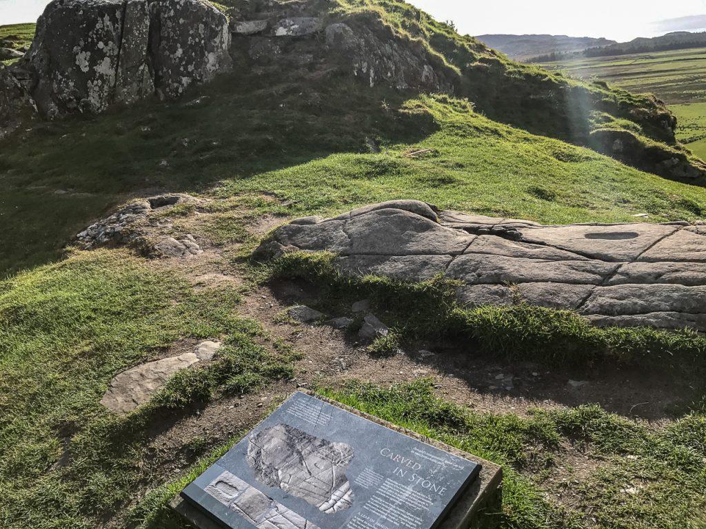 Coronation Stone - Dunadd Fort Kilmartin Glen