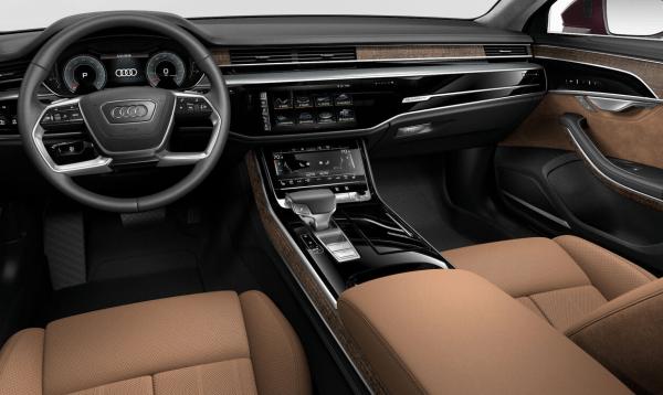 2019 Audi A8 Nutmeg Brown interior