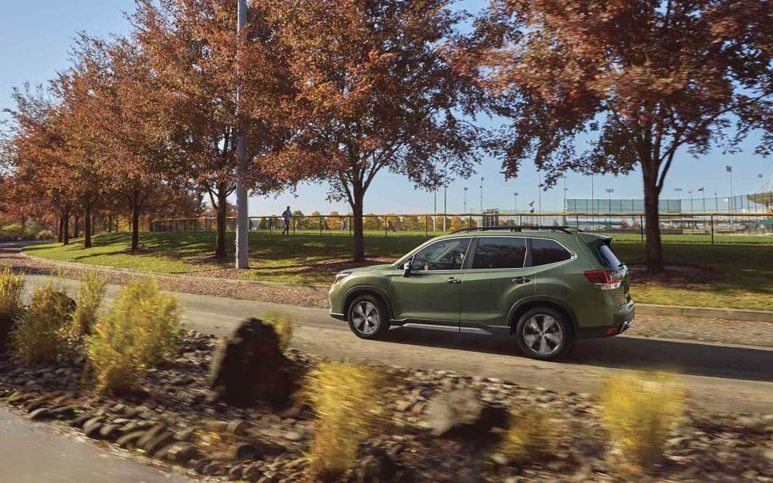 2019 Subaru Forester exterior in Jasper Green