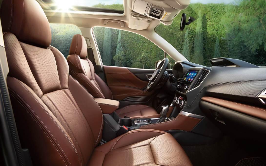 2019 Subaru Forester interior in Saddle Brown