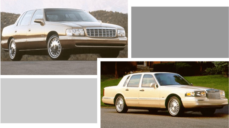 Cadillac DeVille, Lincoln Town Car