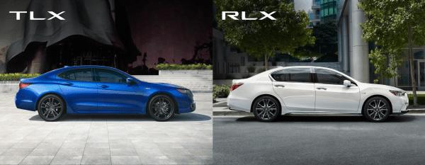 2019 Acura TLX versus 2019 Acura RLX