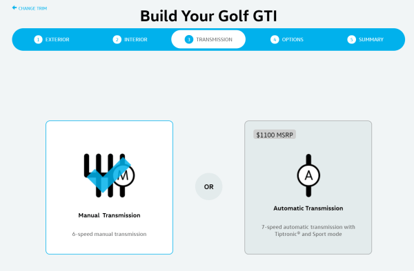 2019 Volkswagen Golf GTI manual transmission