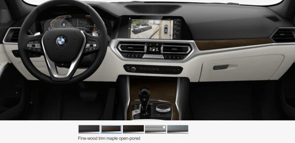 2019 BMW 3 Series Oyster interior dash