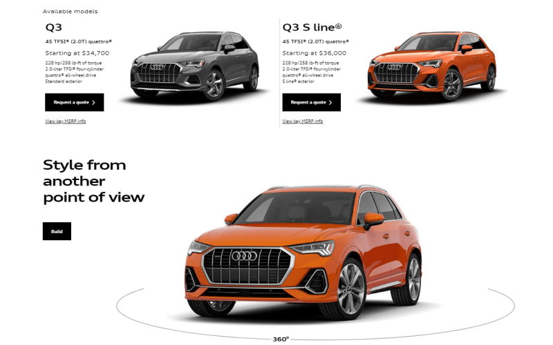Building a 2019 Audi Q3