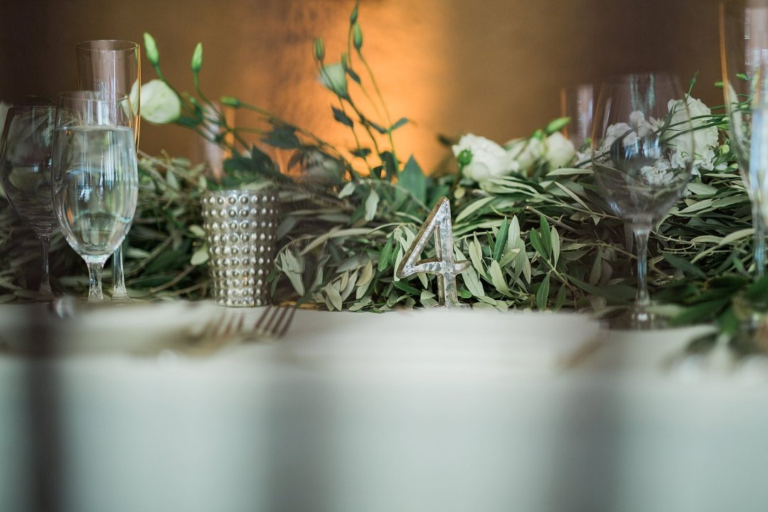 Olive rosemary and peony wedding