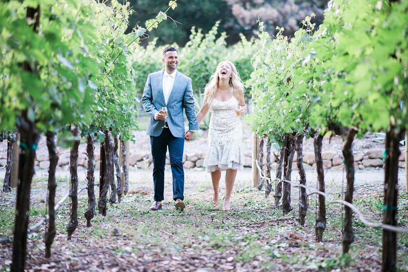 Vineyard Engagement Photo