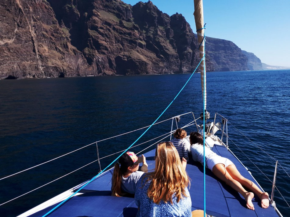 whale watching and sailing charters in Los Gigantes Tenerife.