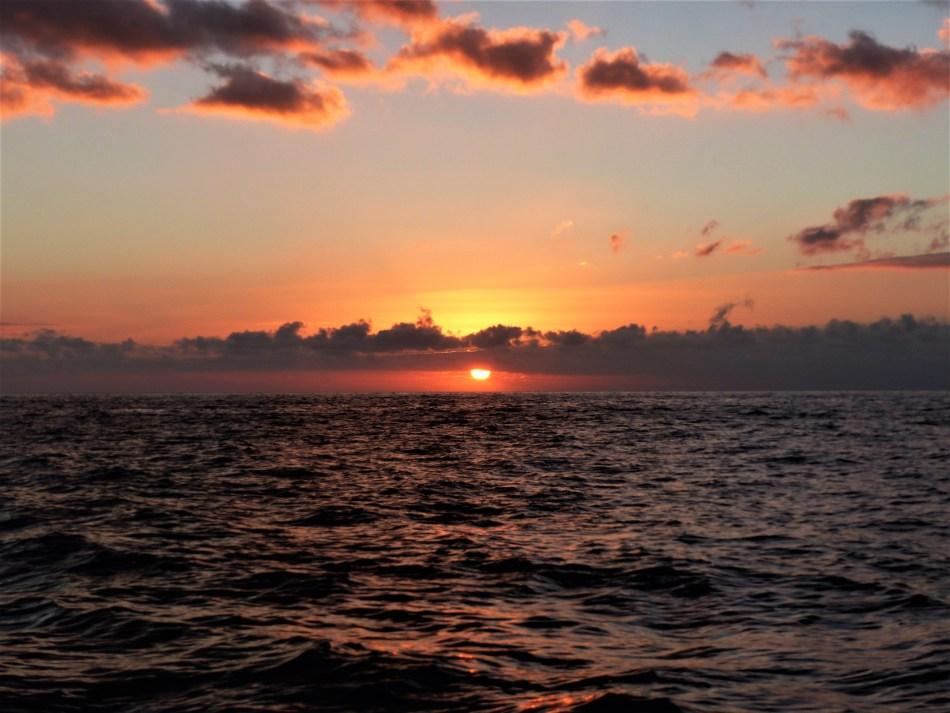 Sonnenuntergang auf dem Meer auf Teneriffa