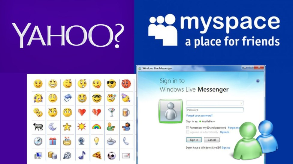 Image result for yahoo messenger and myspace