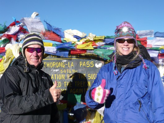 The top of the Annapurna Pass in Nepal