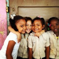 The girls in Honduras where I volunteered.