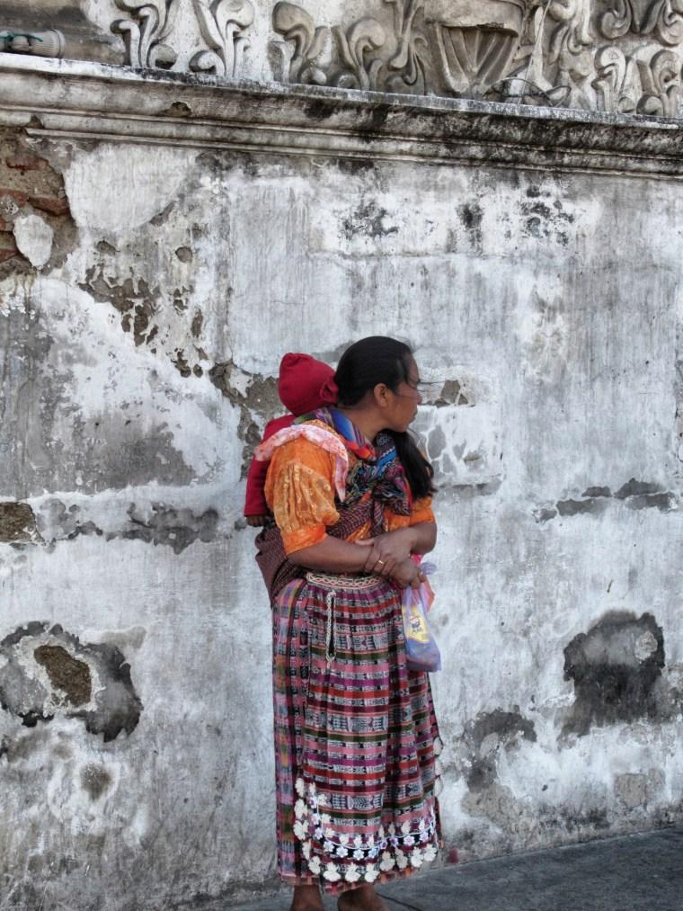 Mayan mother and child. Xela, Guatemala