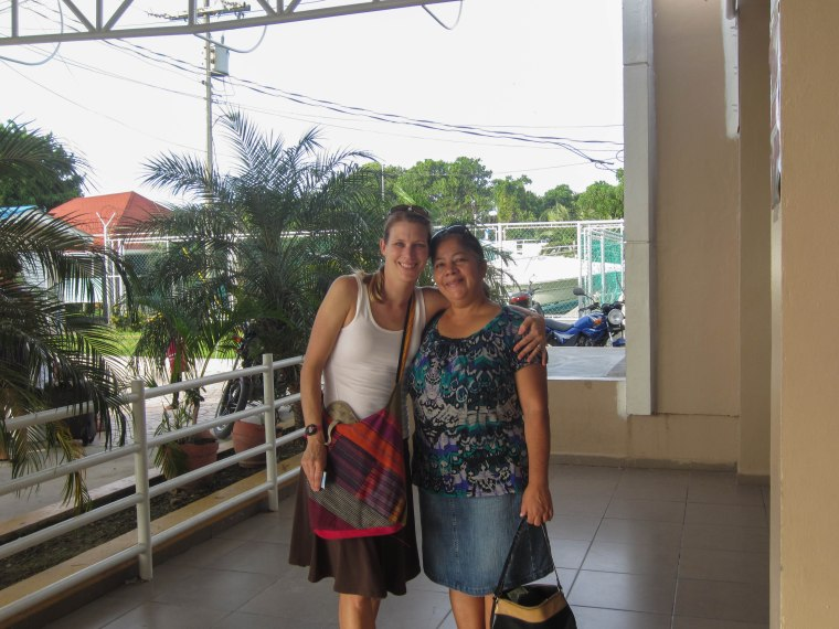 Me and Maria, my Honduran host