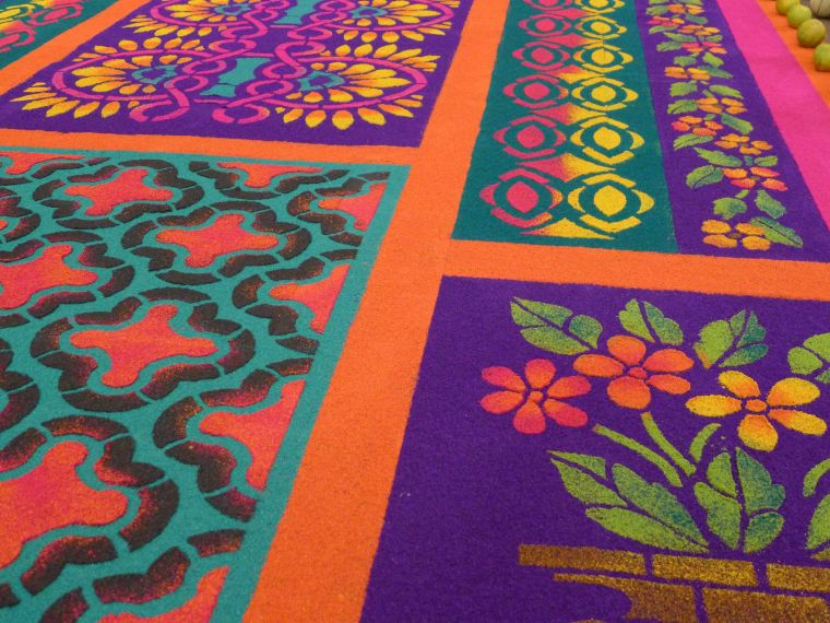 Guatemalan alfombras (carpets) made for Holy Week