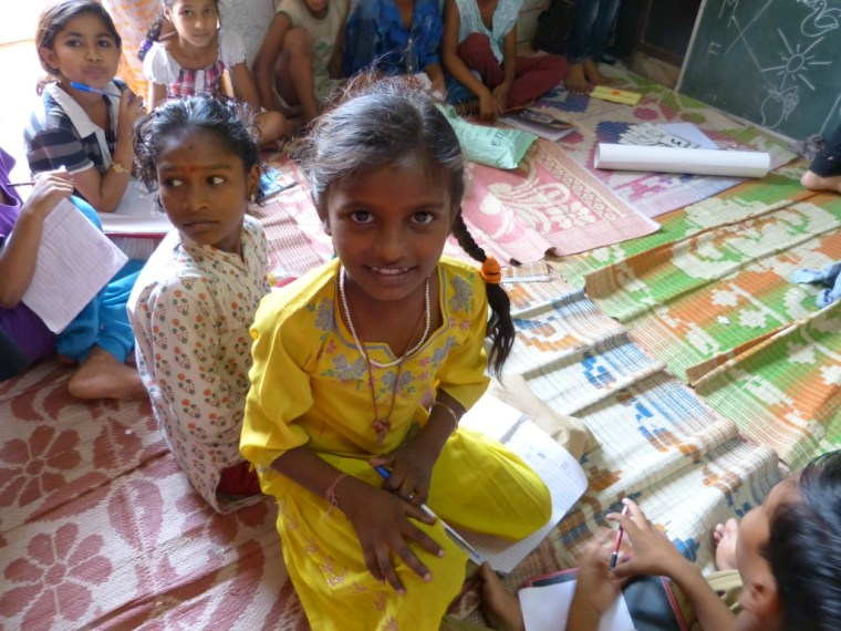Girls learning in Protsahan