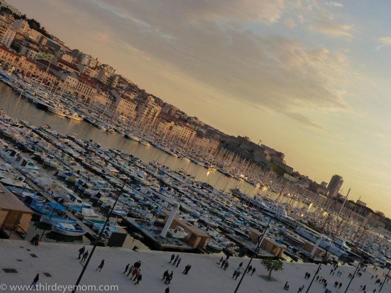 Vieux Port at Sunset.