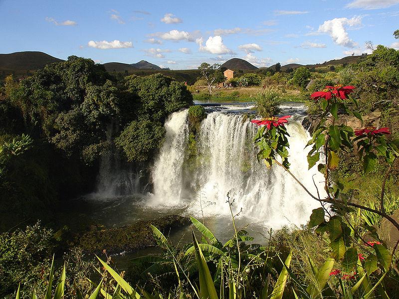 Waterfalls are abundant in Madagascar. Image Source: Wikipedia Free Commons