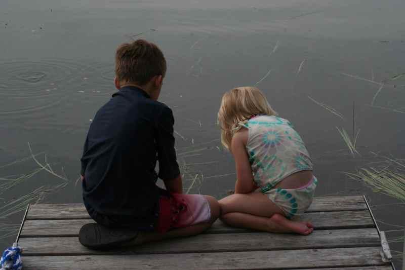My children at Roy Lake. Summer 2011