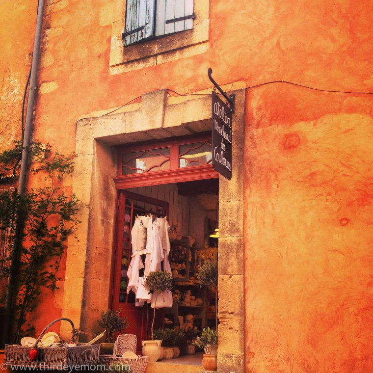 Quaint streets of Roussillon