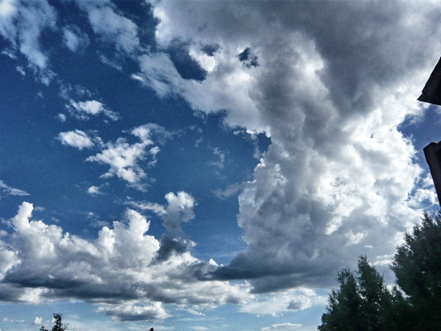 Monsoon clouds forming in Arizona