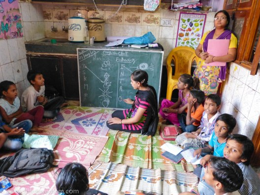 Indian children learning