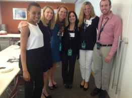 My fellow World Mom Blogger Nancy from Tanzania, CEO of Save the Children Carolyn Miles, Me, Jennifer Barbour and Elizabeth Atately (Global Team of 200) and Phil Carroll of Save the Children (L-R)
