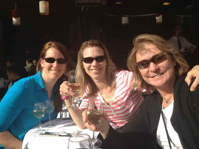 My Mom, sister and I in Paris last April 2013.