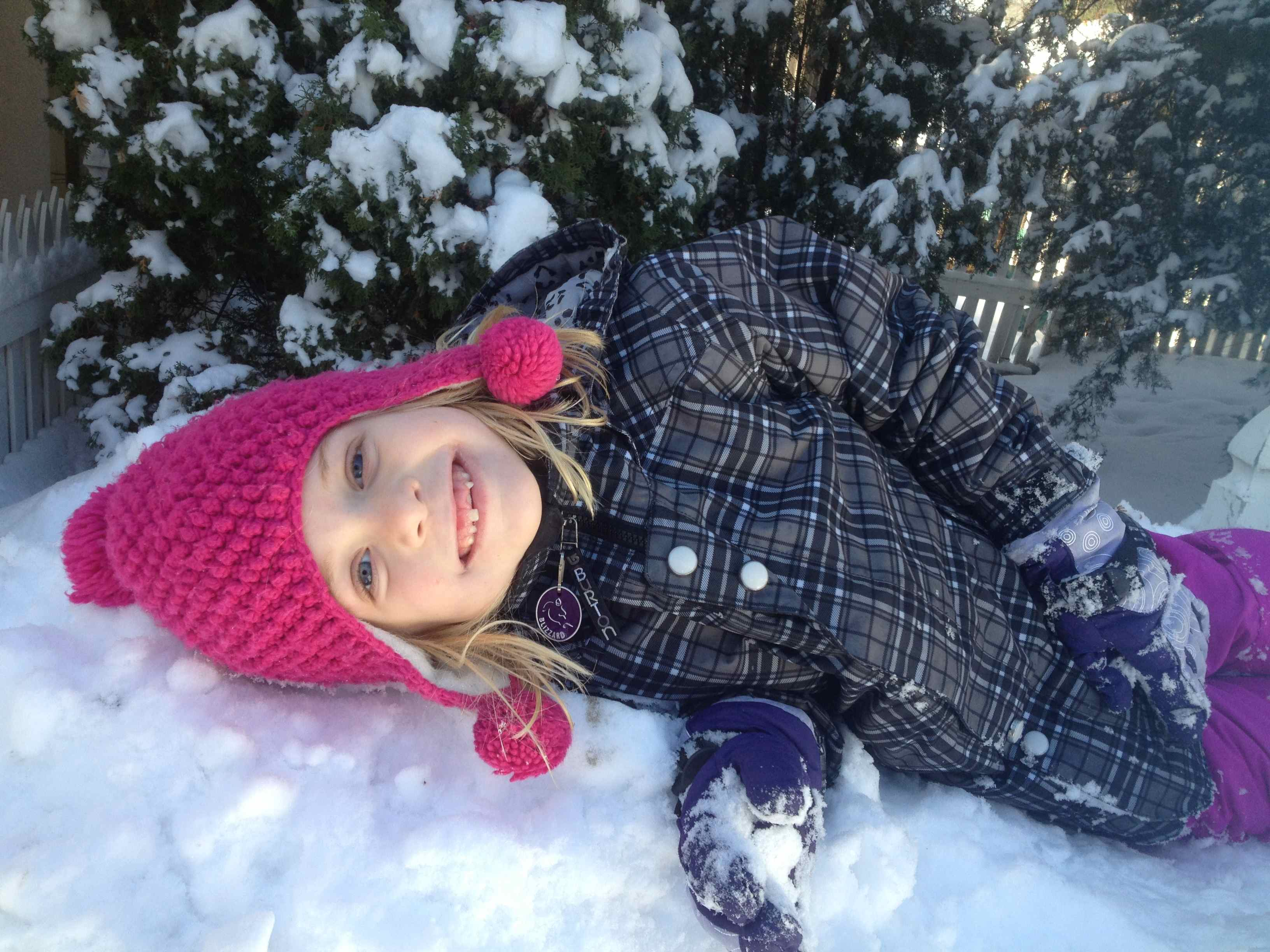 Playing in the snow.