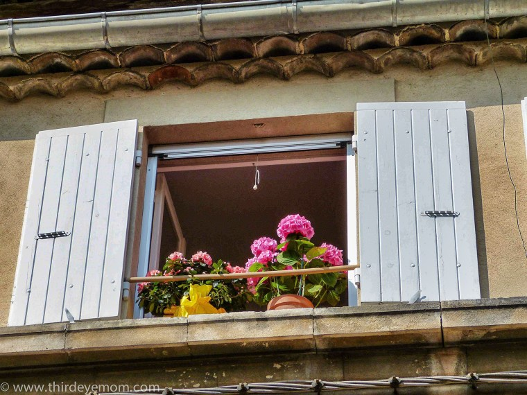 Windows in Provence, France