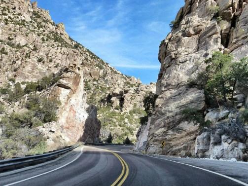 Drive to Mount Lemmon. Tucson, Arizona