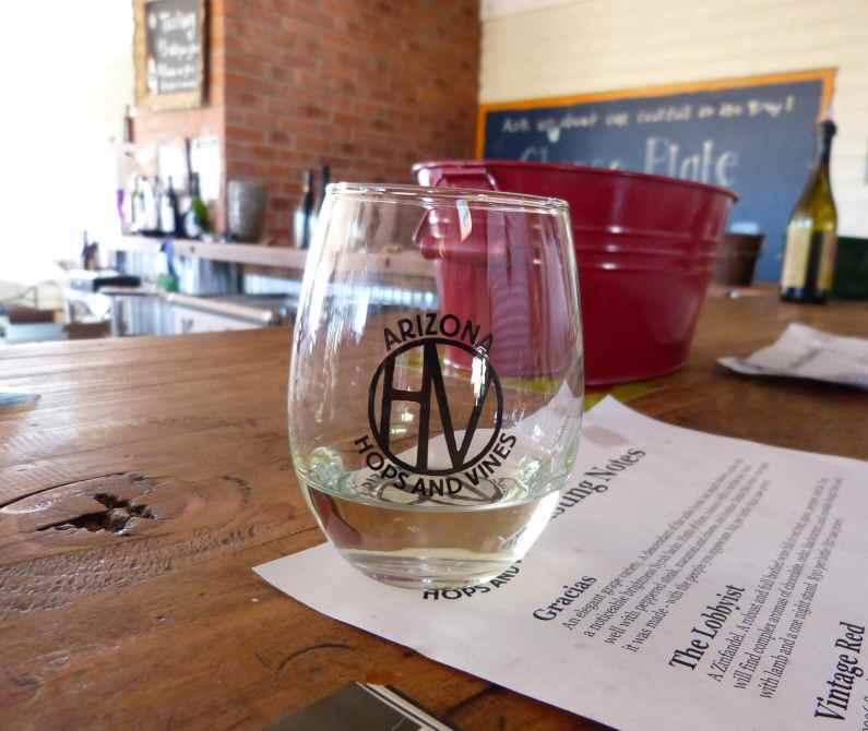 Wine at AZ Hops and Vines